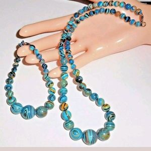 Rainbow Calsilica Necklace & Bracelet Set